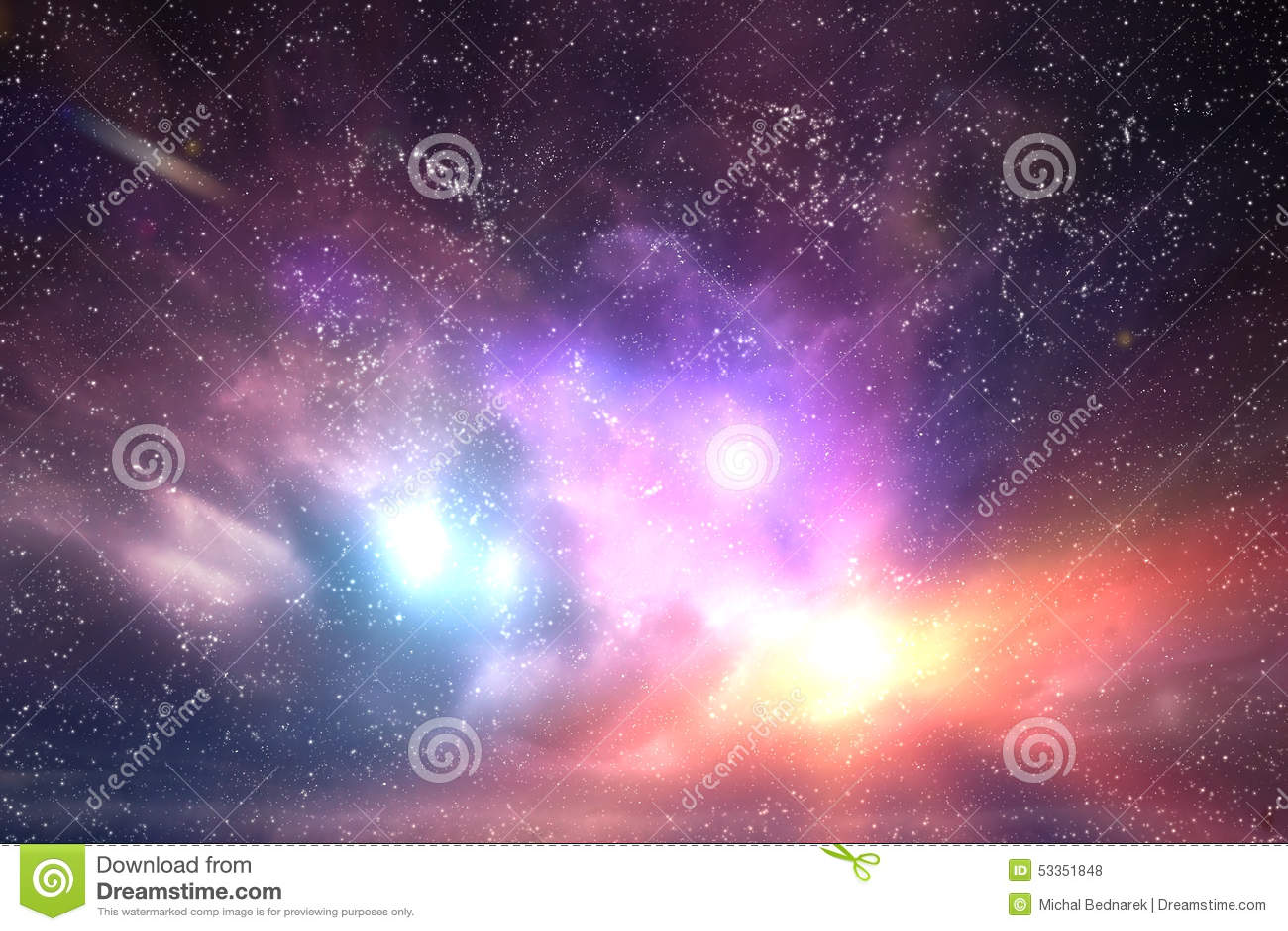 Галактика, небо космоса Звезды, света, предпосылка фантазии