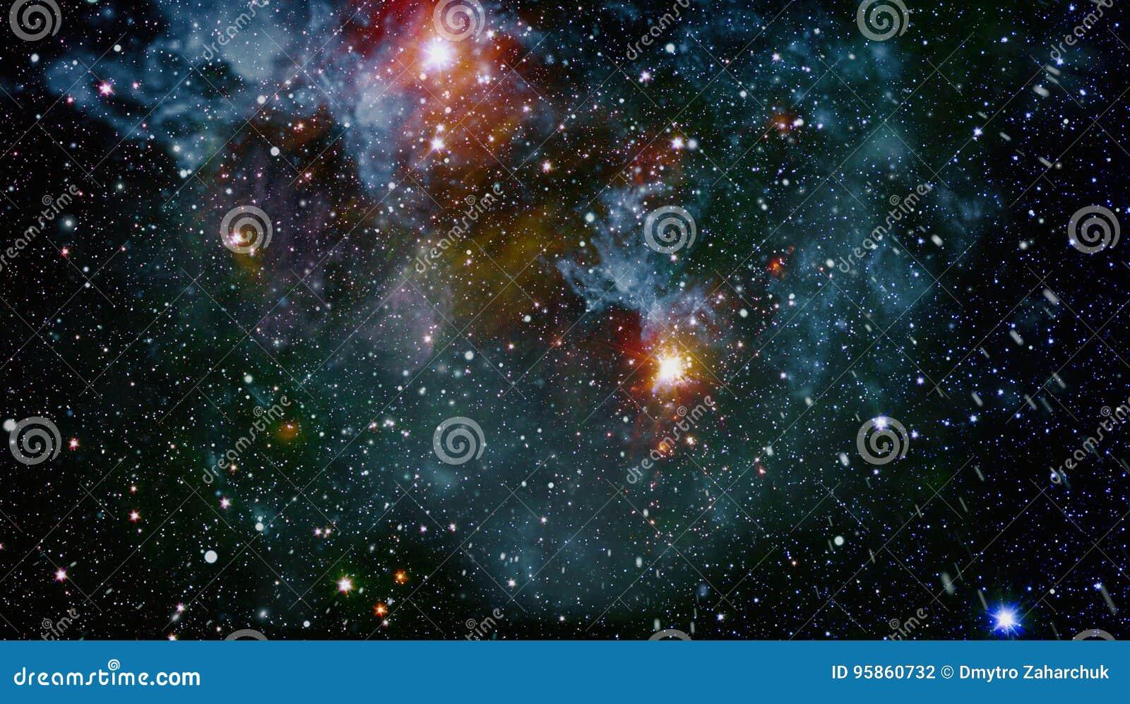Галактика - элементы этого изображения поставленные NASA