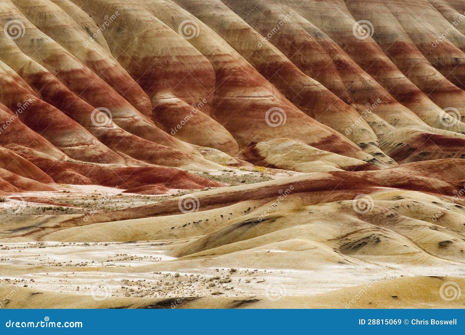 Геология в покрашенном положении Орегона холмов