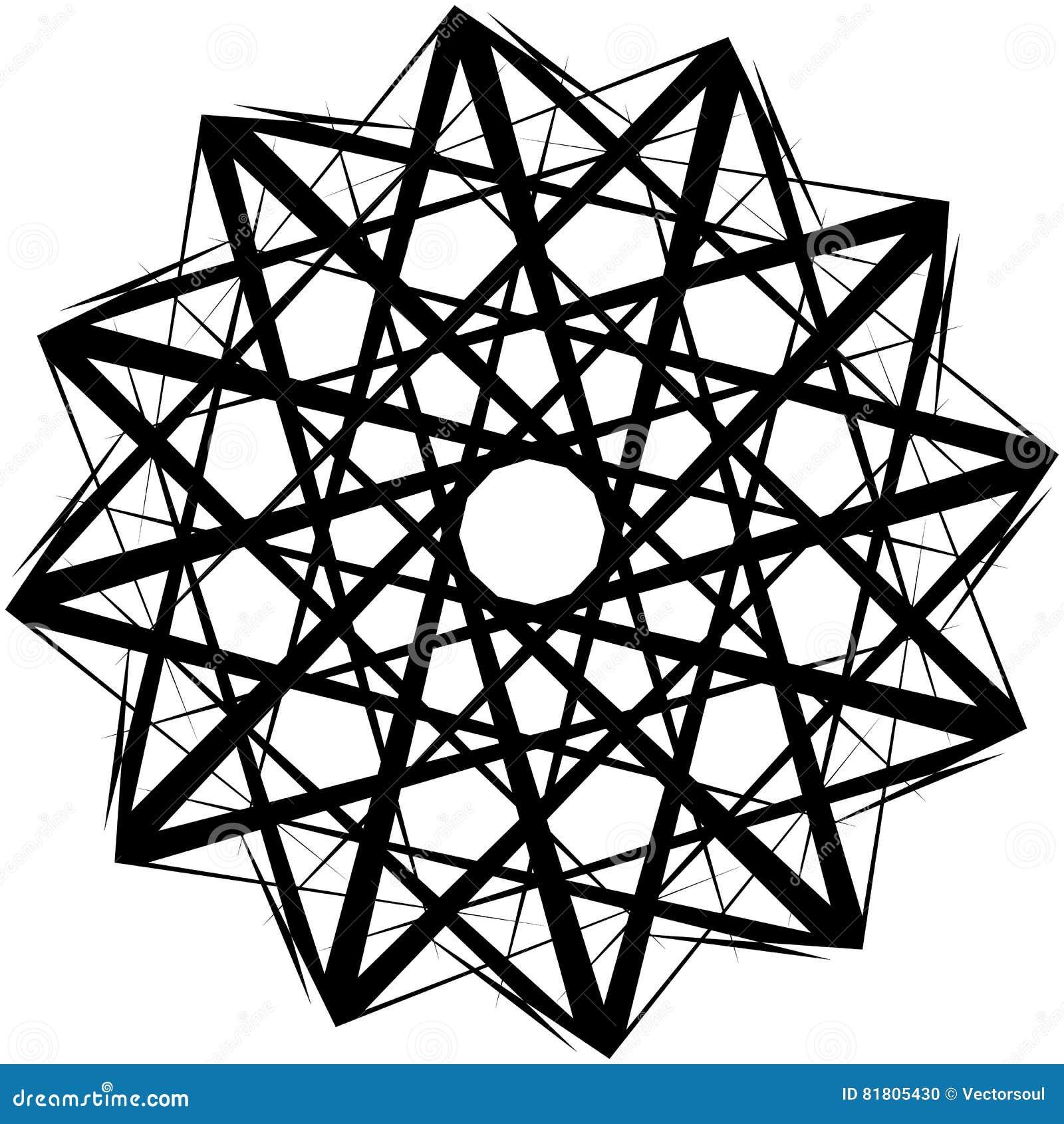 Геометрическая вращая форма Editable иллюстрация вектора
