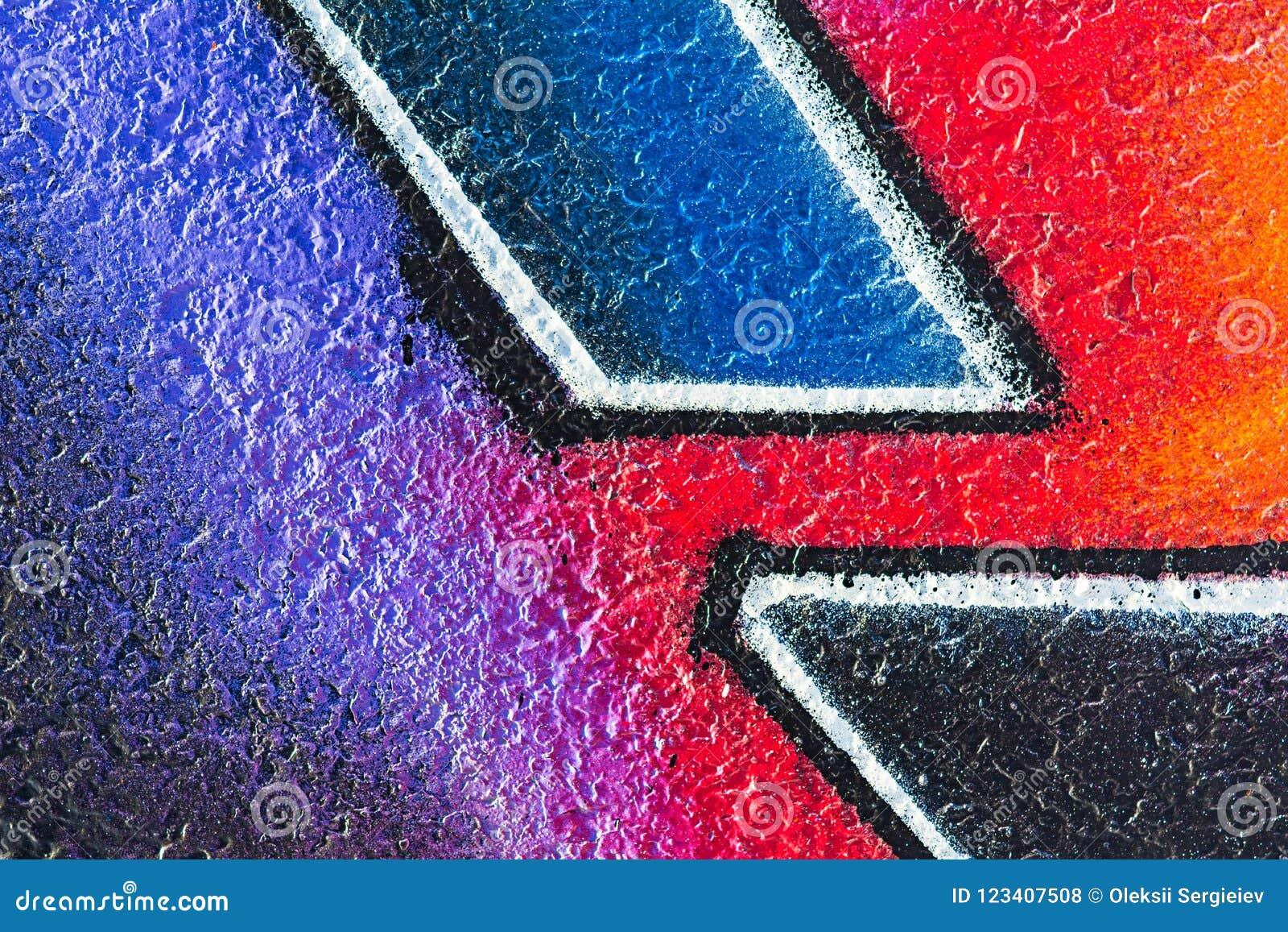 Геометрическая картина на грубом бетоне