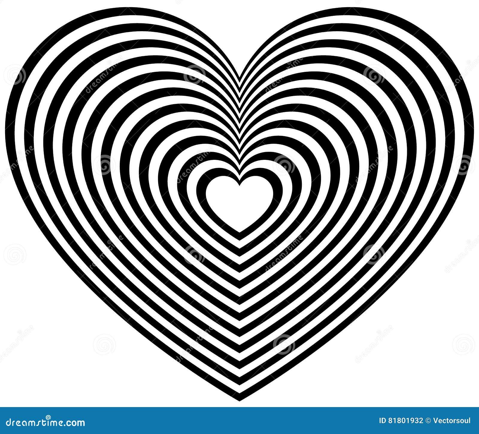 Геометрическая форма сердца контура