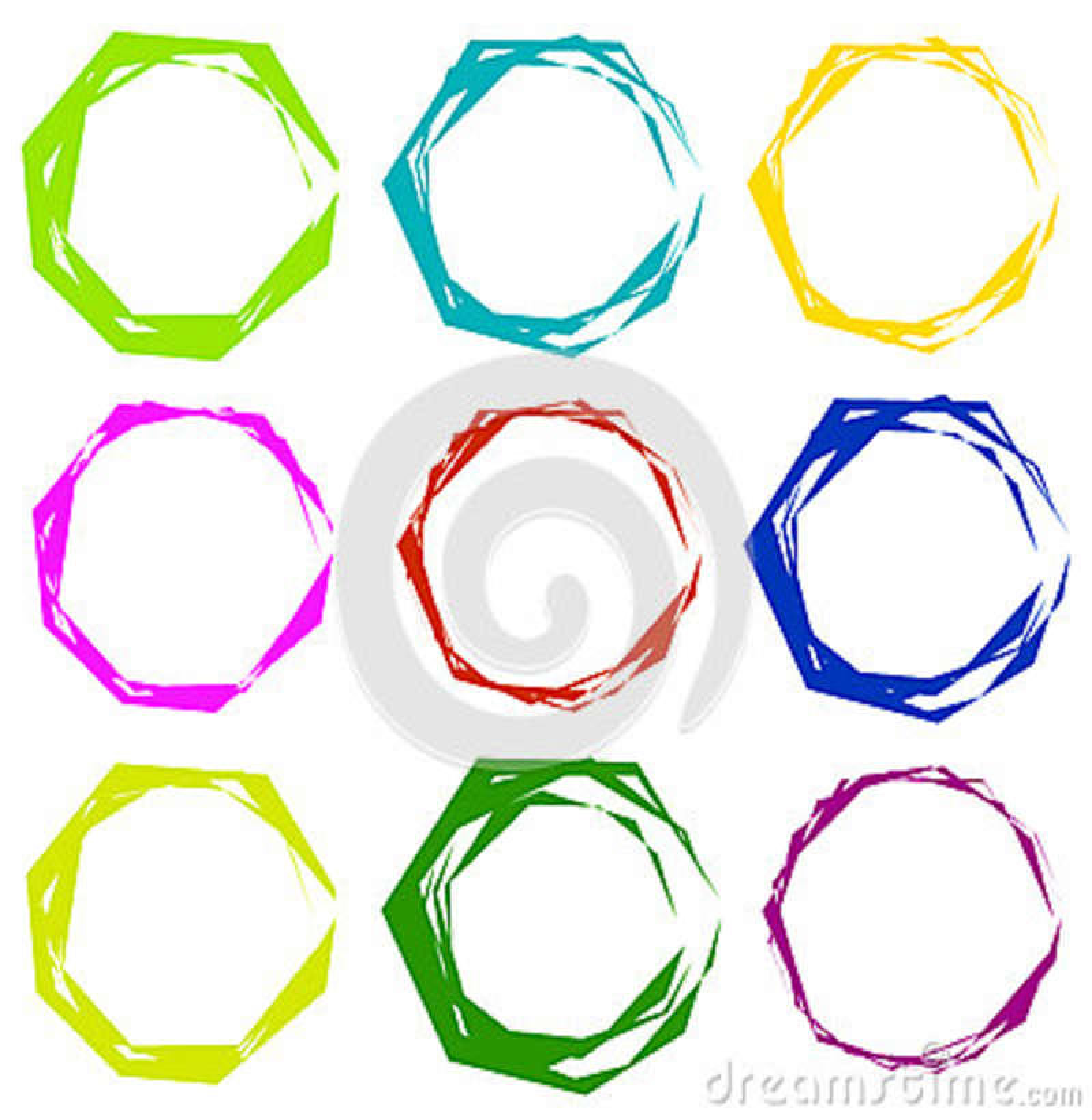 Геометрические рамки Комплект нервных геометрических круговых рамок