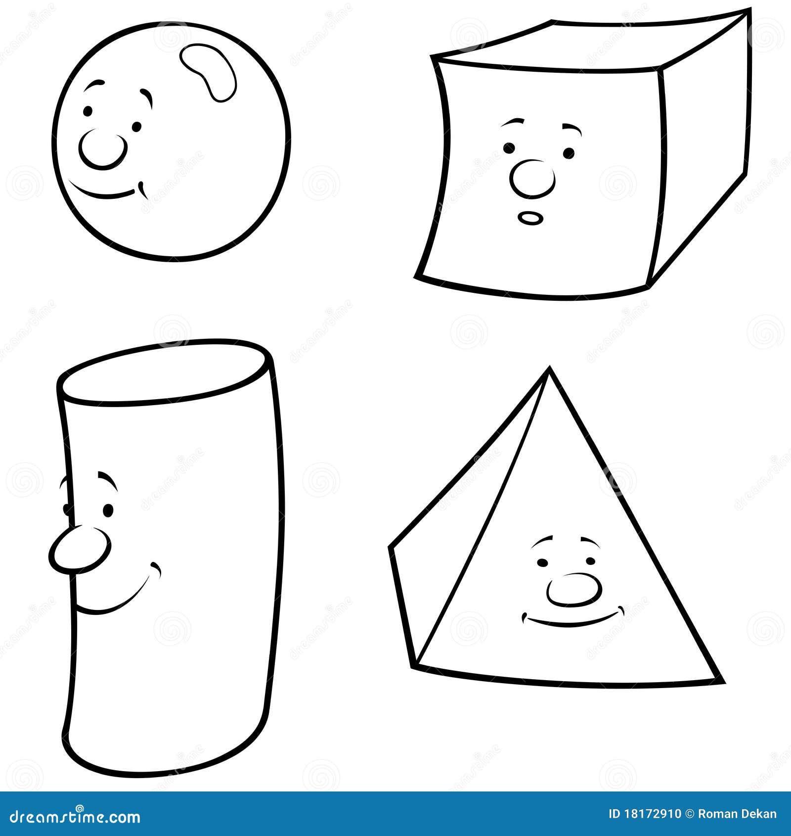 Черно белый рисунок геометрические фигуры