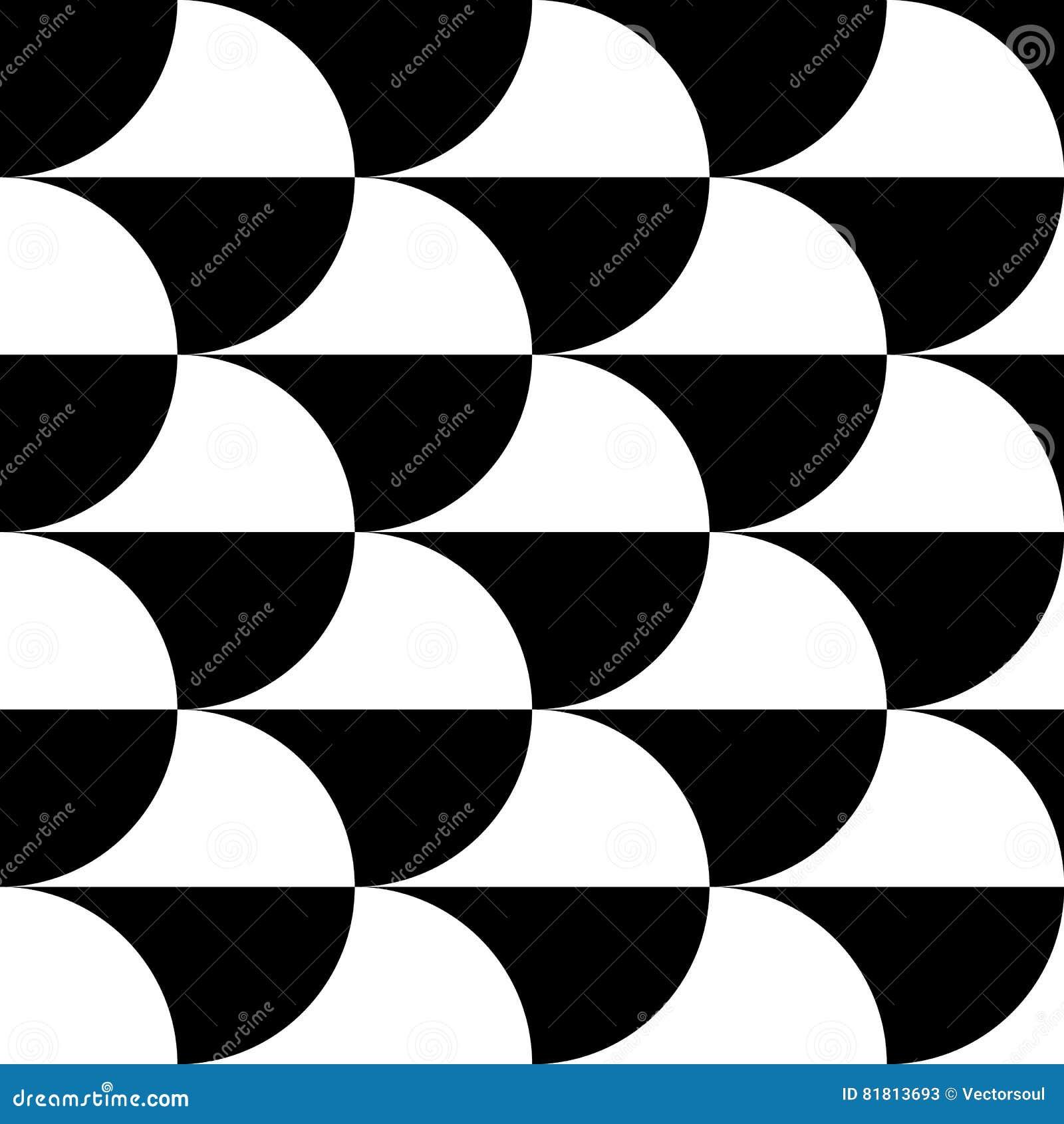 Геометрические черно-белые картина/предпосылка Плавно repea