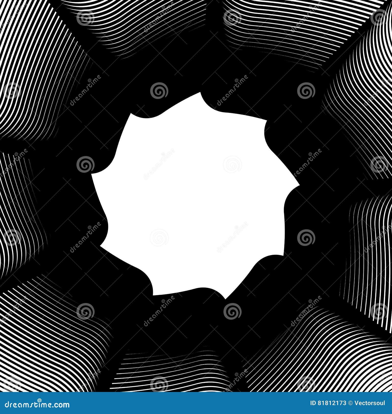 Геометрический круговой элемент - вращая спираль, форма свирли