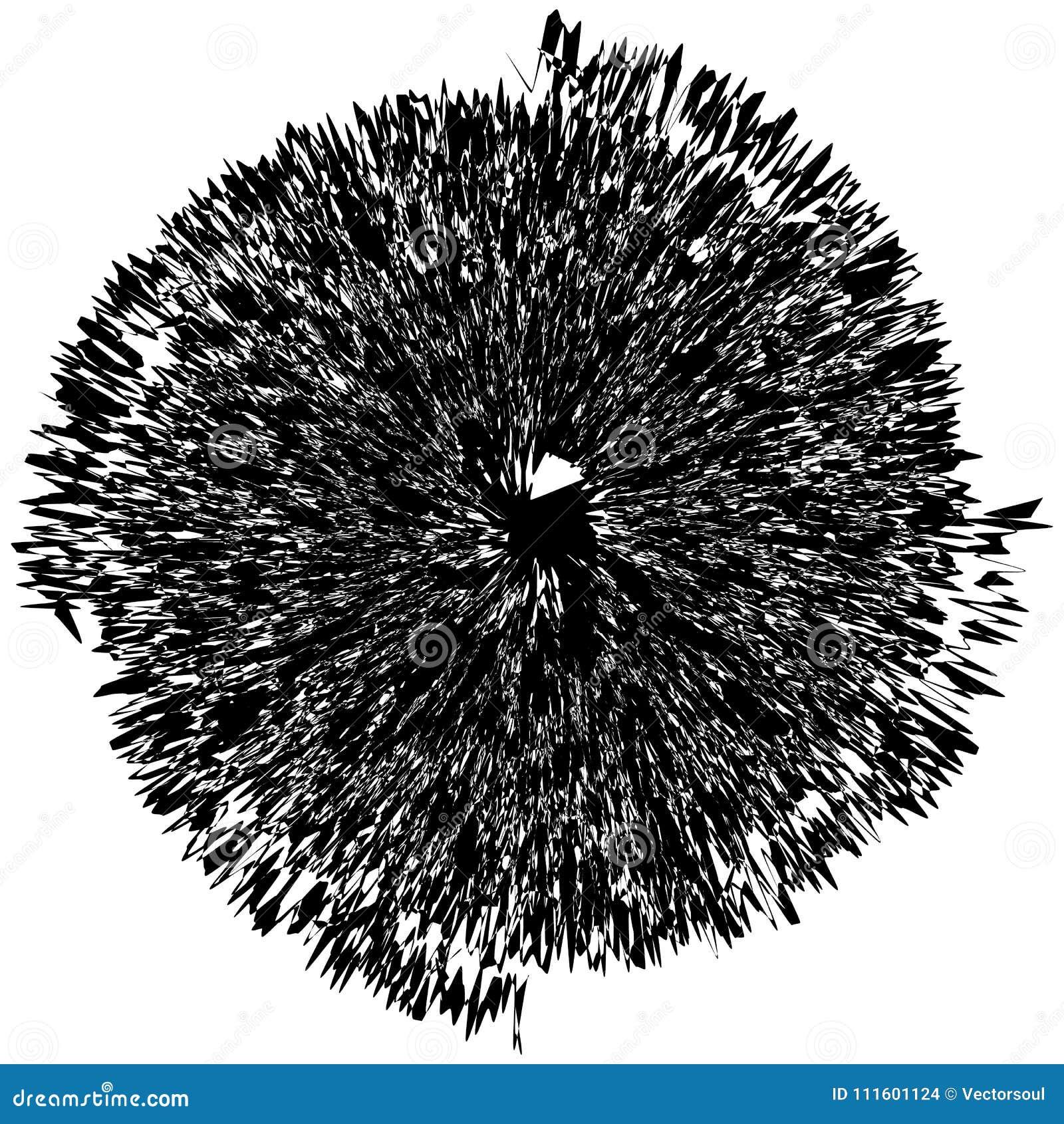 Геометрический радиальный элемент Абстрактное концентрическое, радиальное геометрическое