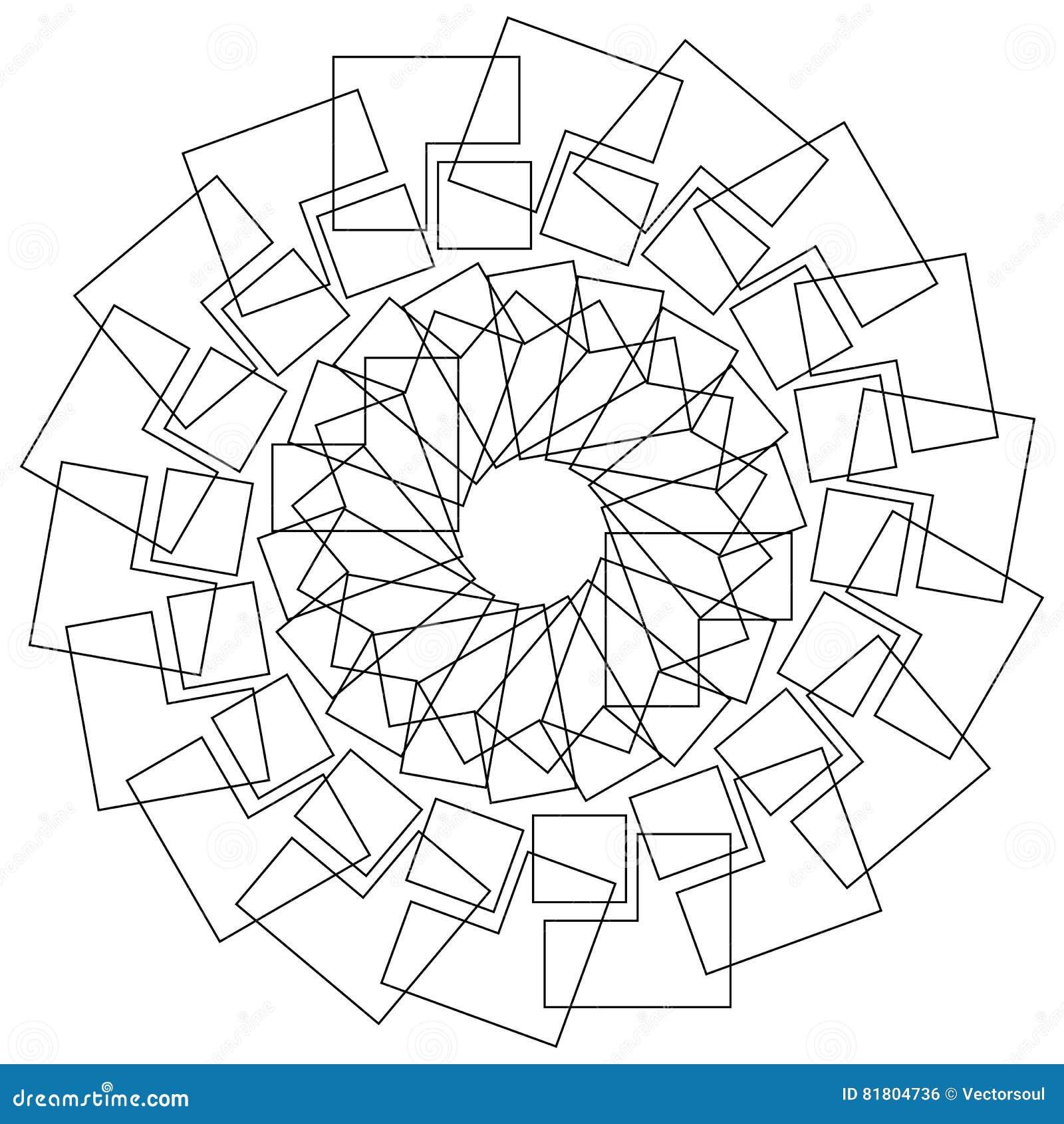 Геометрический цветок - круговой цветок лотоса картины, мандала, мотив