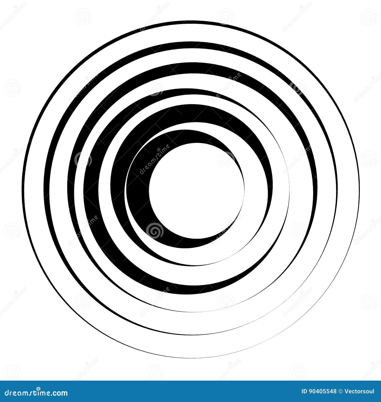 Геометрический элемент концентрических кругов Radial, излучая циркуляр