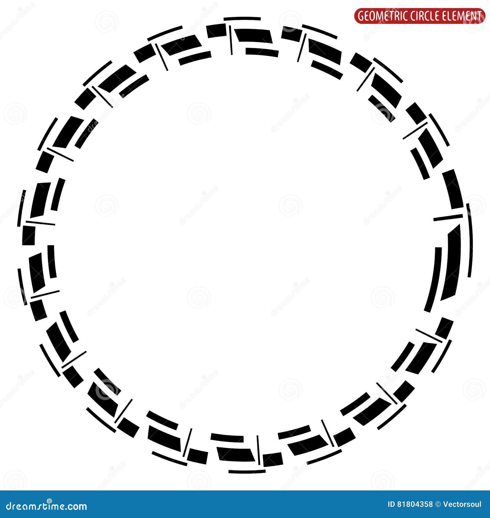 Геометрический элемент круга Абстрактная monochrome форма круга