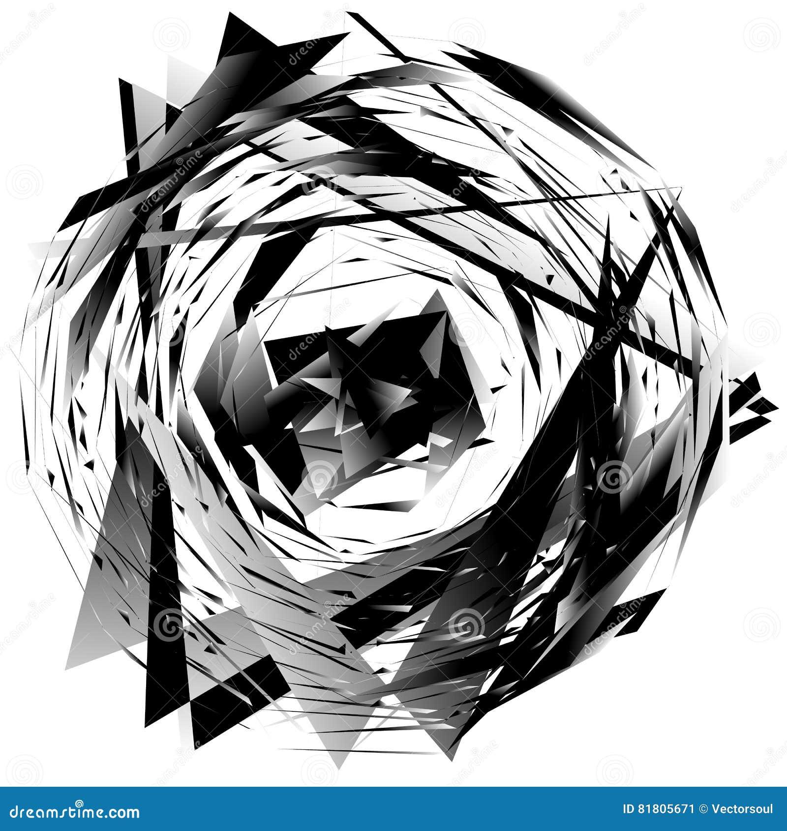 Геометрический monochrome элемент изолированный на белизне Грубый, нервный, tex