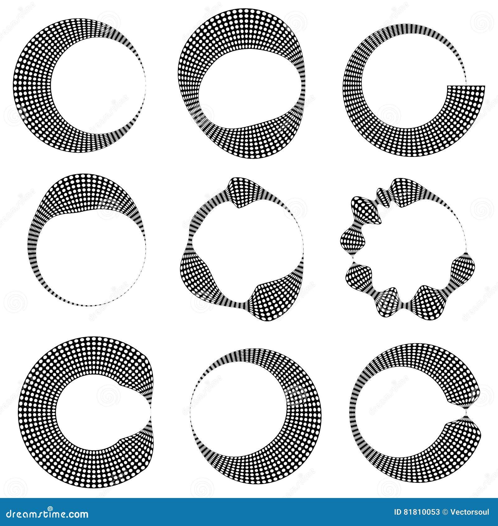Геометрическим элементы поставленные точки циркуляром с искажением 9 различное