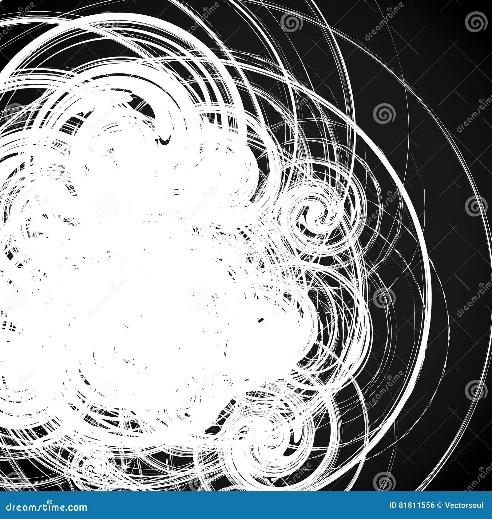Геометрическое абстрактное искусство с случайными скачками спиралями