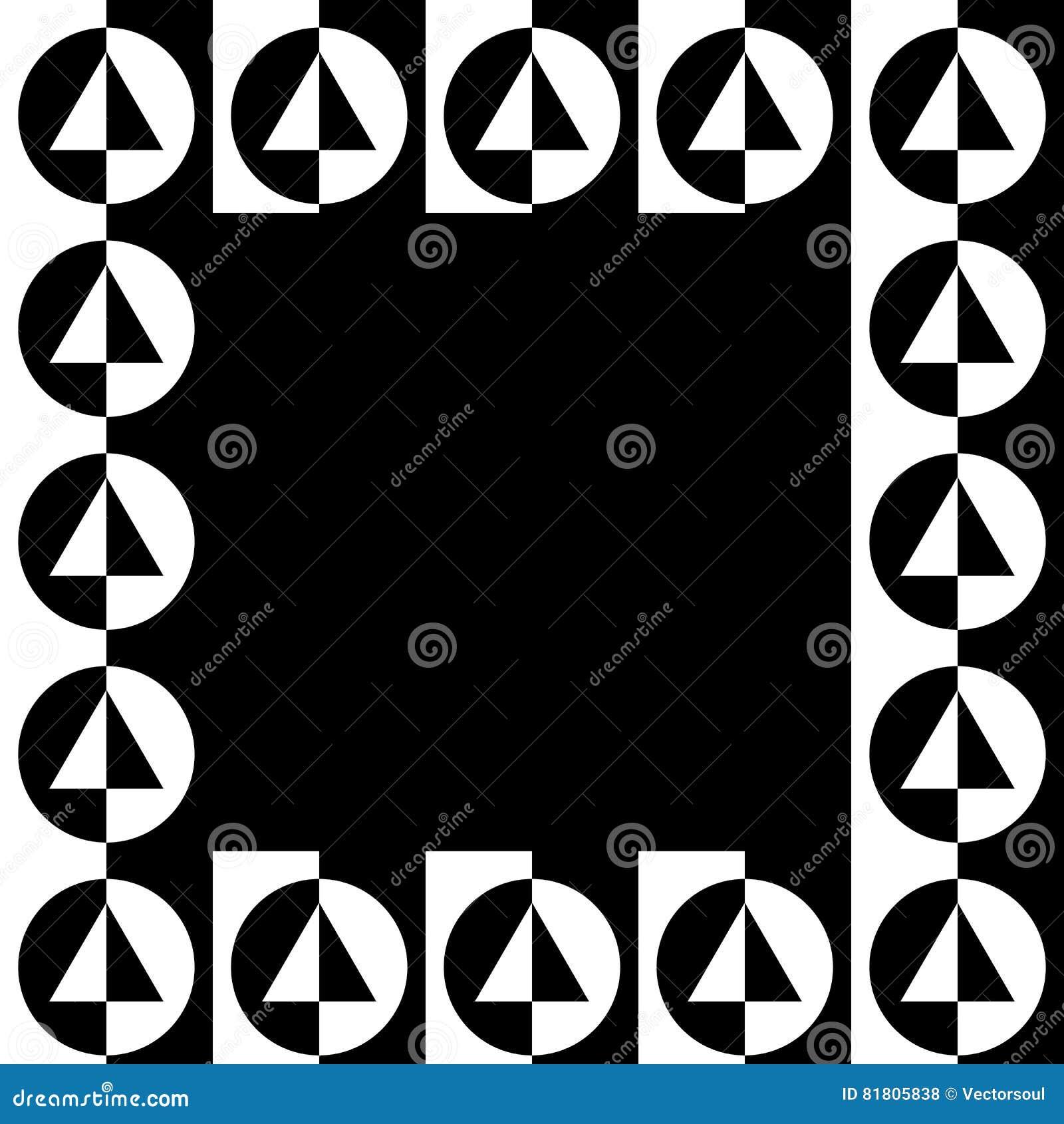 Геометрическое изображение, рамка фото в squarish формате