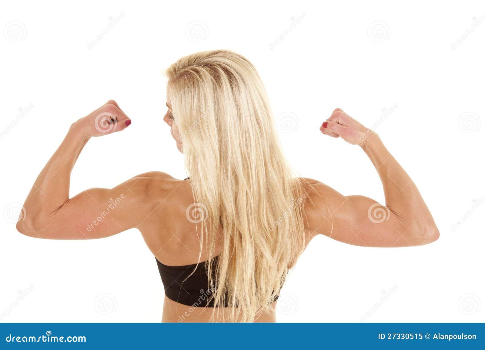 Гибкий трубопровод задней части женщины сильный