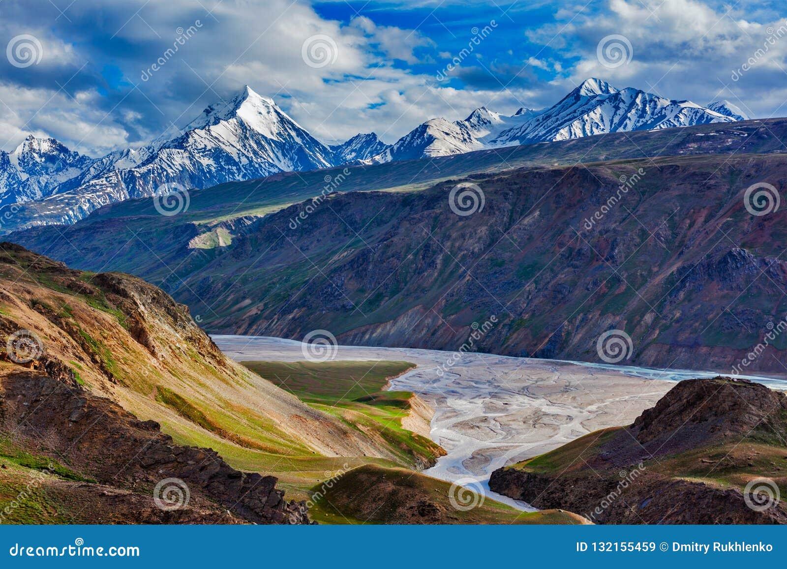 Гималайский ландшафт в Гималаях, Индии