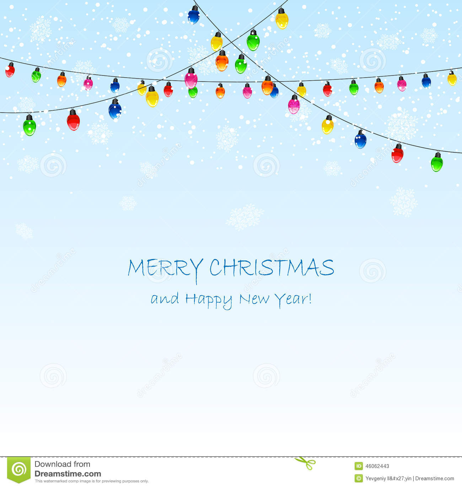 Гирлянда и снежинки рождества