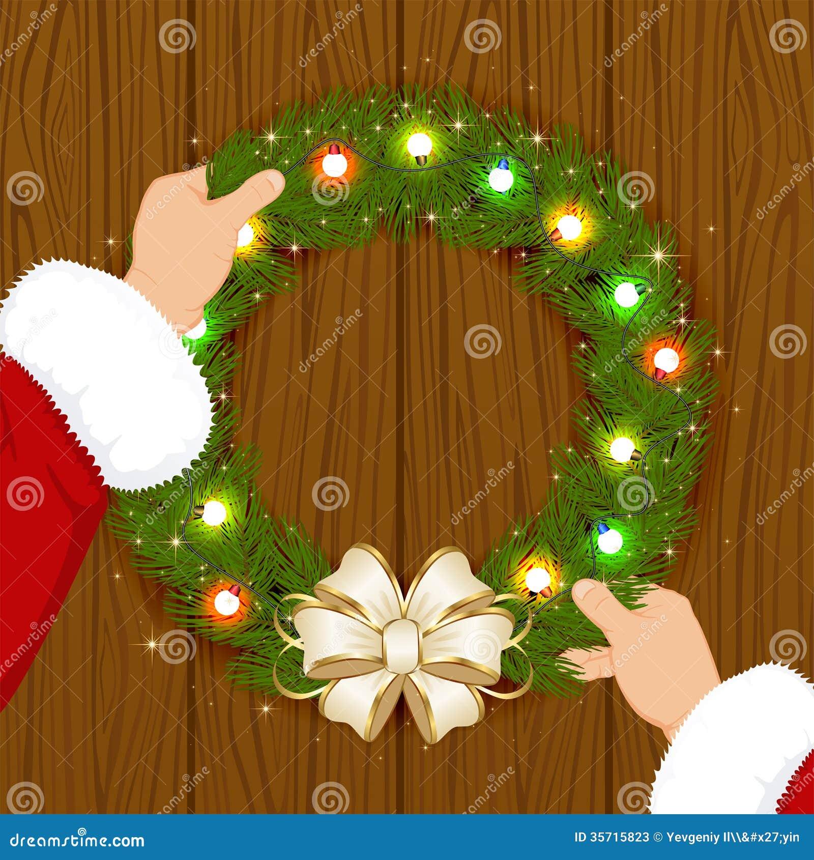 Гирлянда Санты и рождества