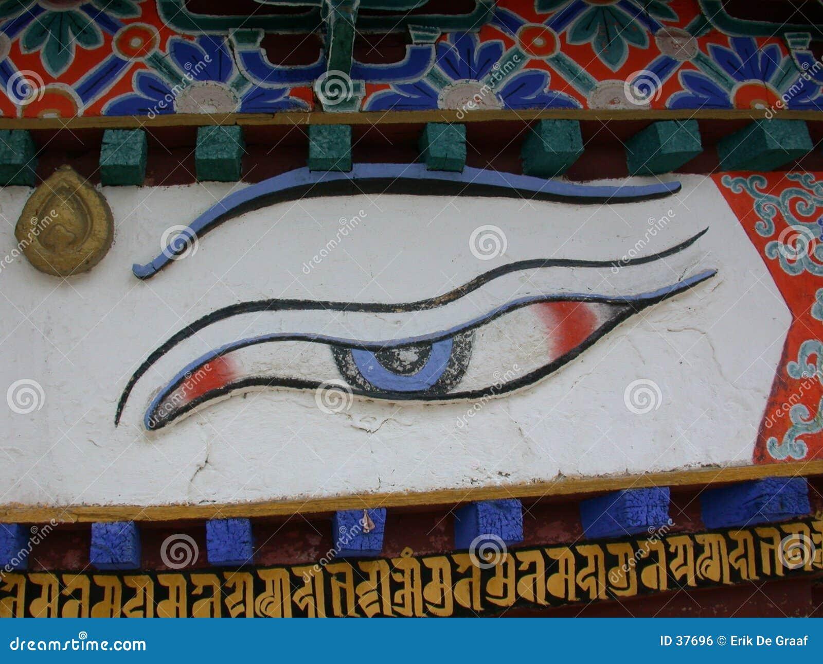 глаз s Будды