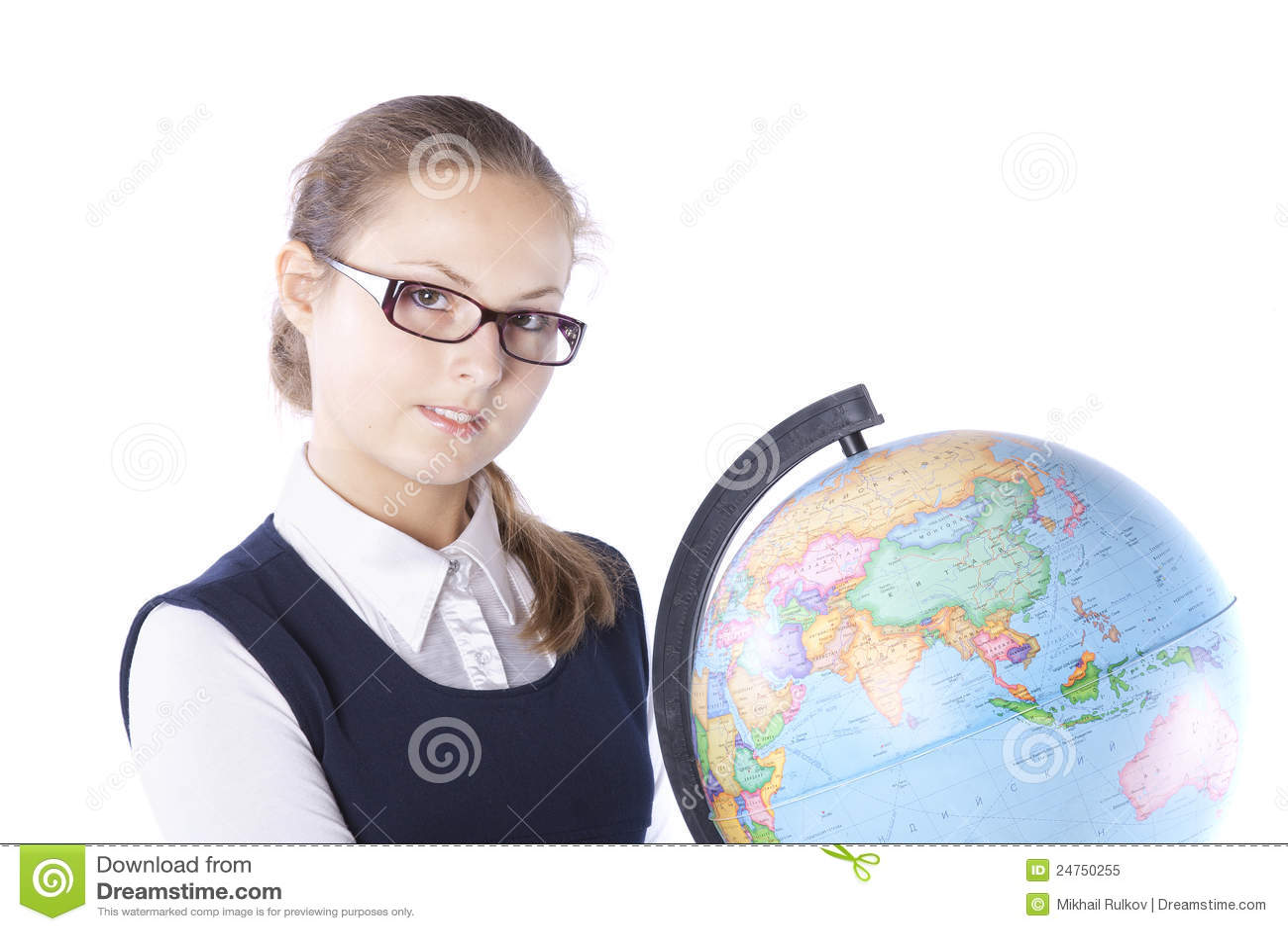 глобус девушки