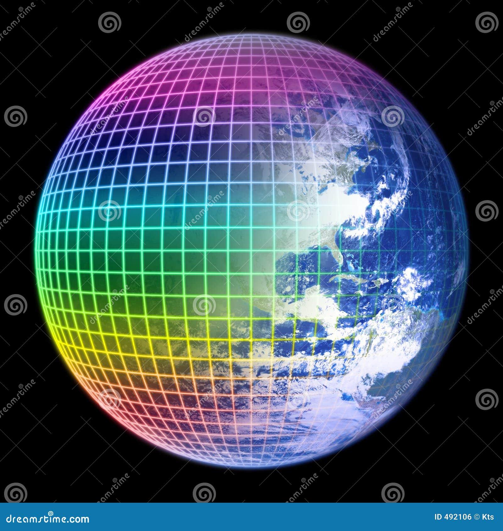 глобус рамки земли цвета