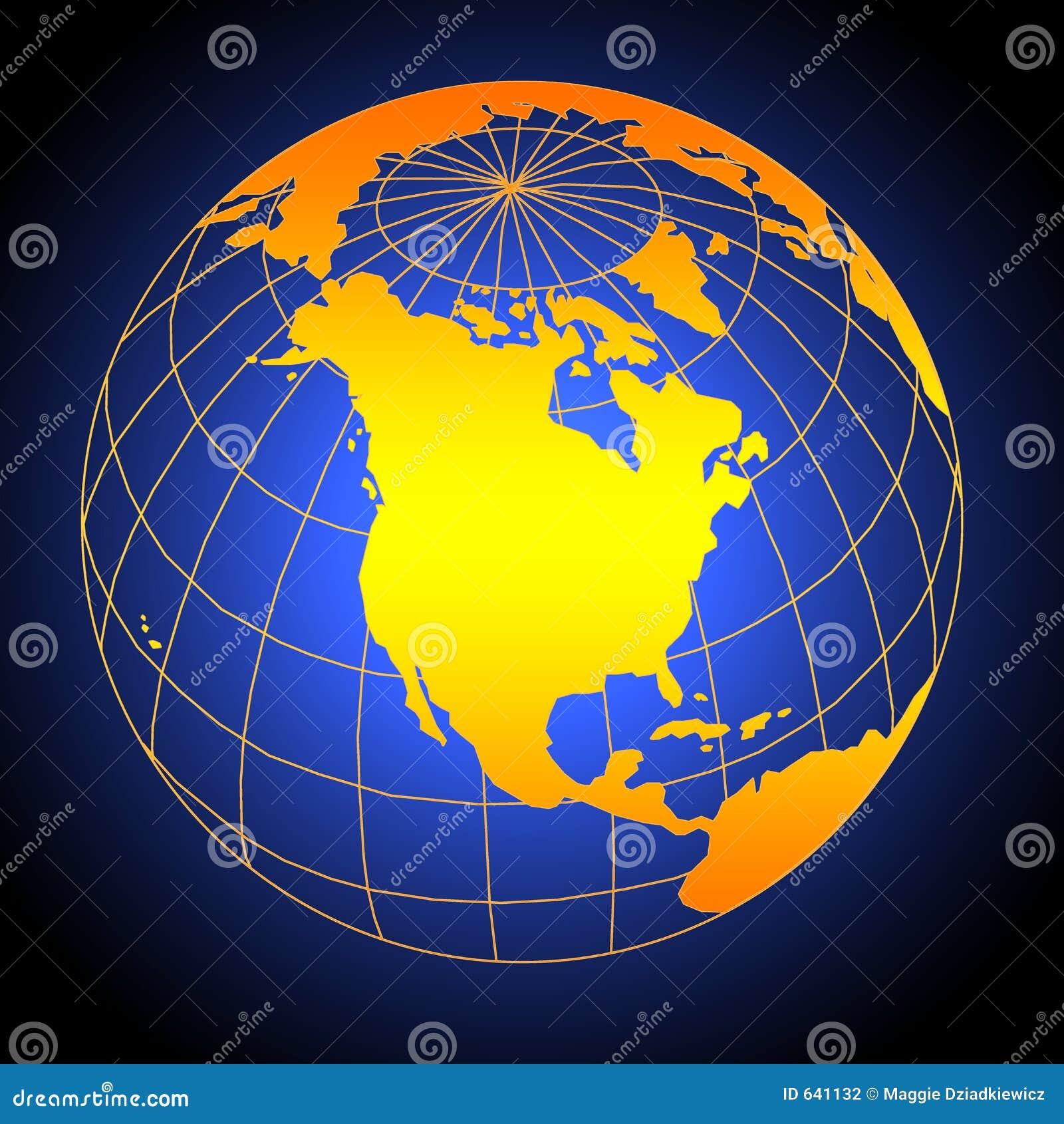 Download глобус иллюстрация штока. иллюстрации насчитывающей pacific - 641132