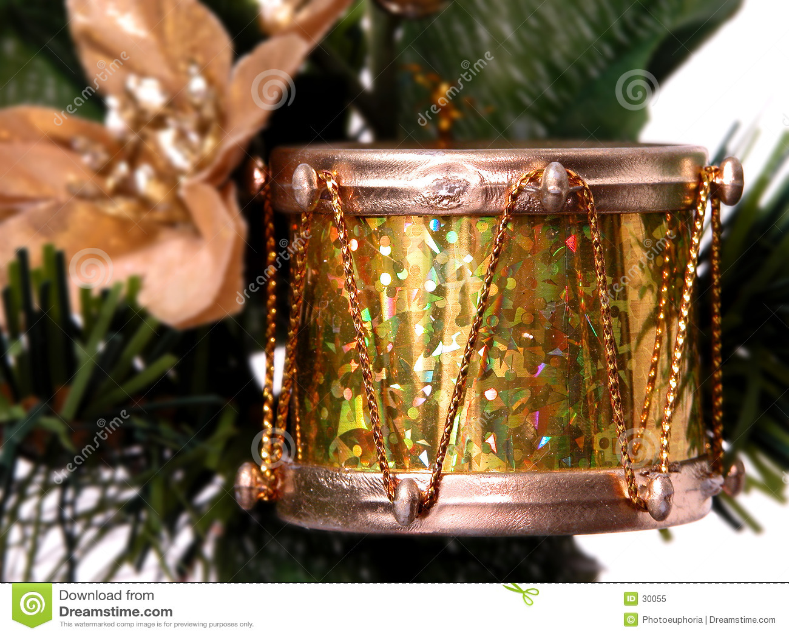 глянцеватое праздника золота фольги барабанчика сезонное