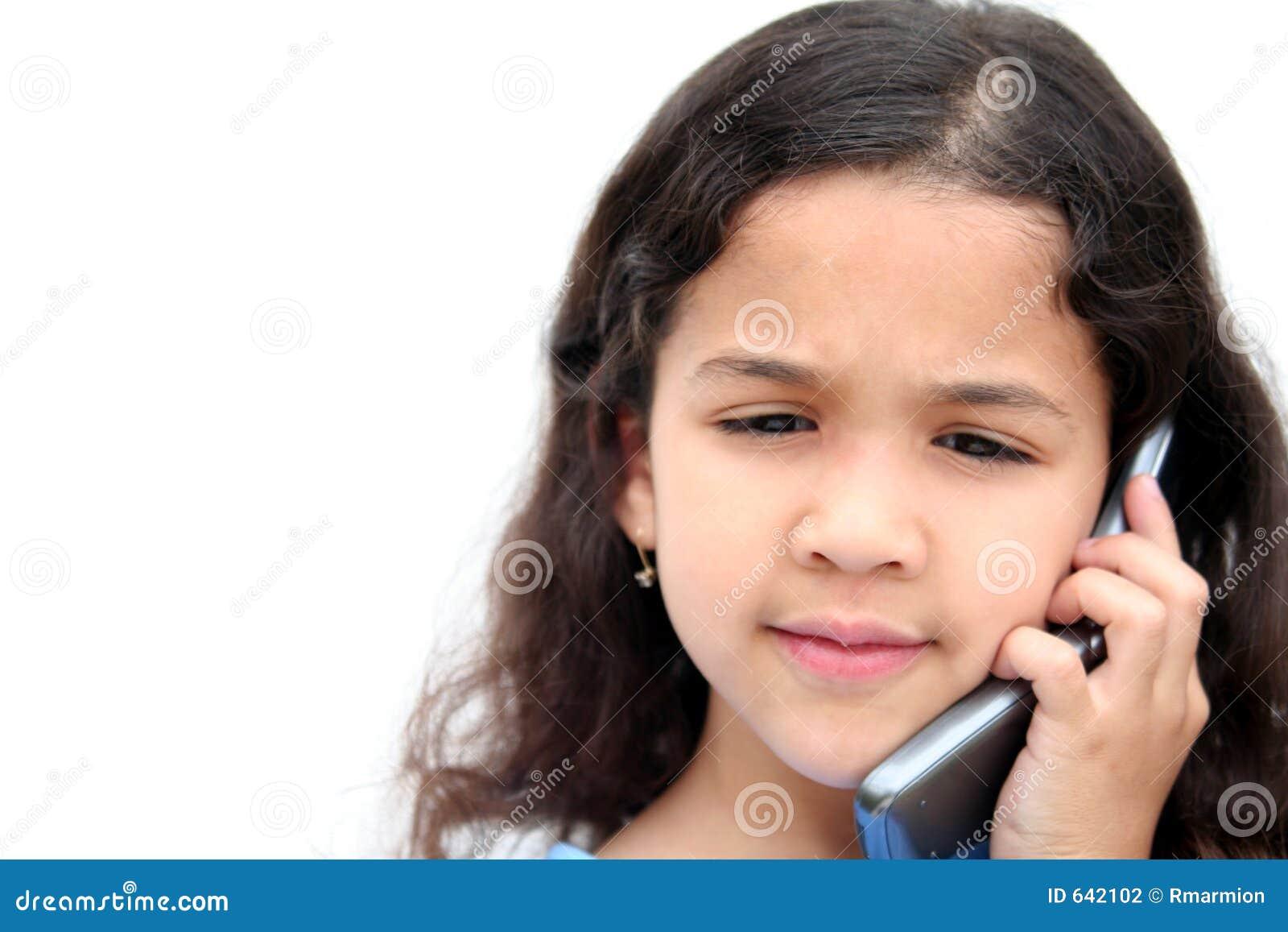Download говорить телефона девушки клетки Стоковое Фото - изображение насчитывающей дети, шкала: 642102
