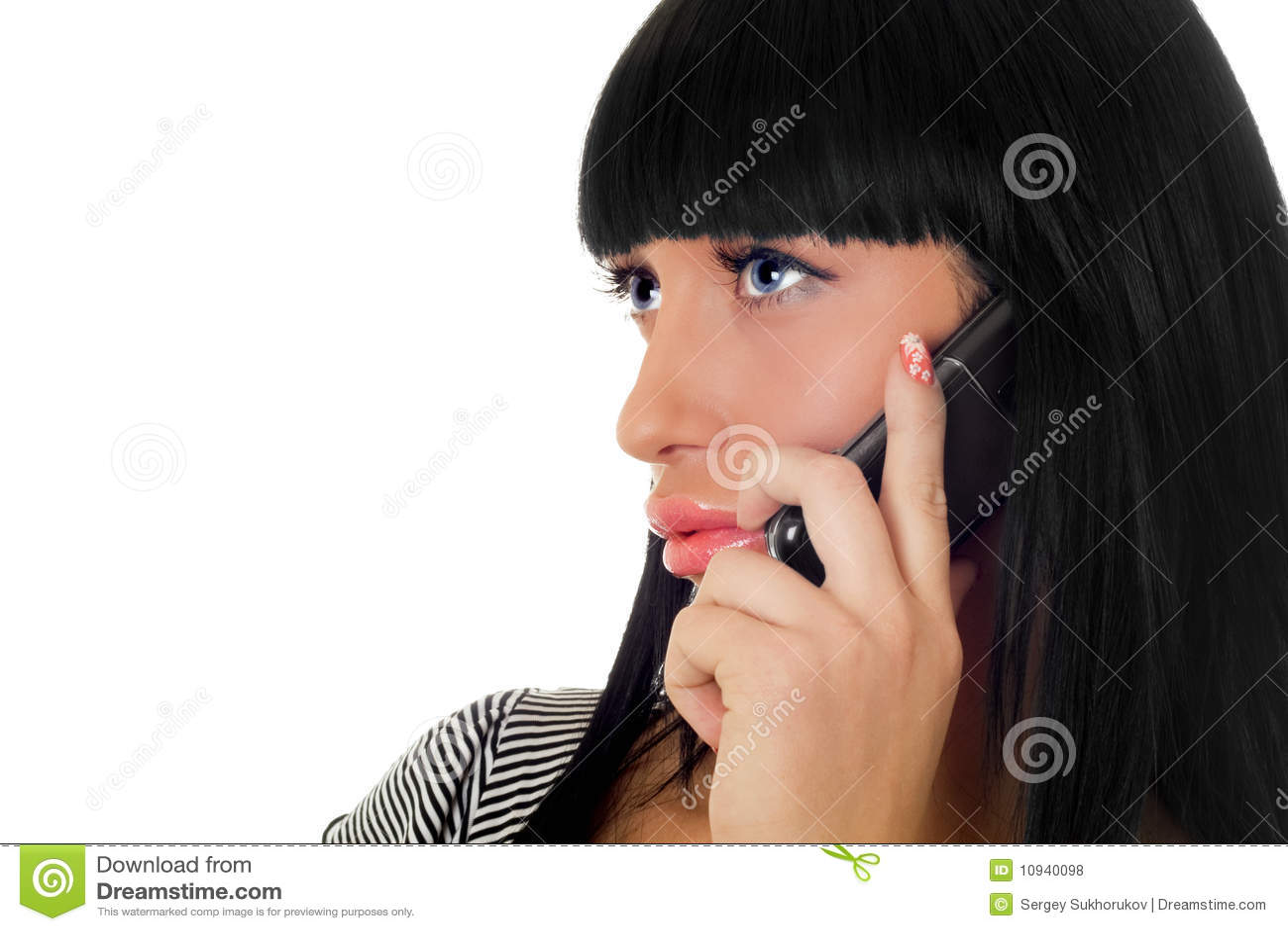 говорить телефона девушки