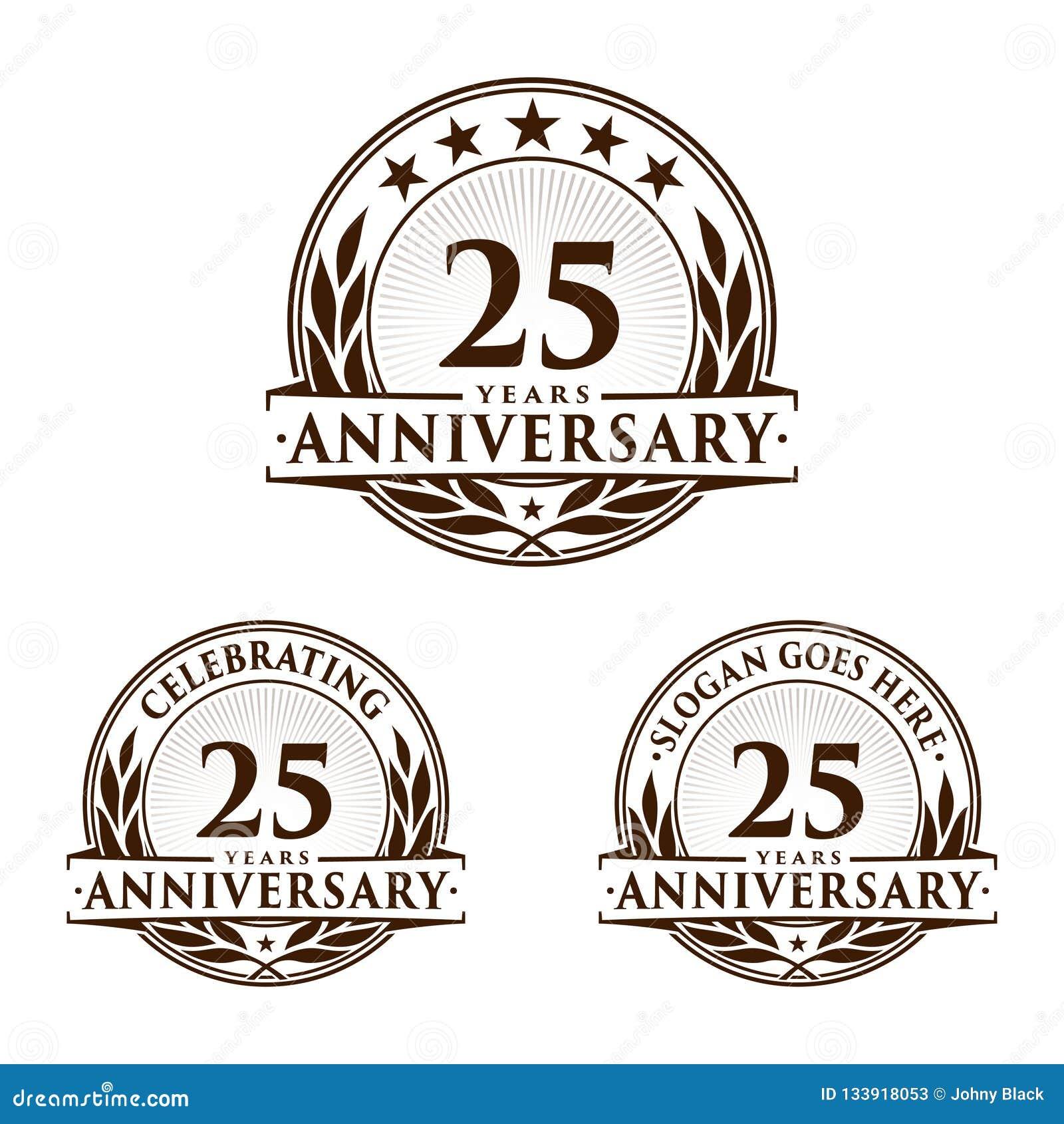 25 годовщины лет шаблона дизайна Вектор и иллюстрация годовщины 25th логотип