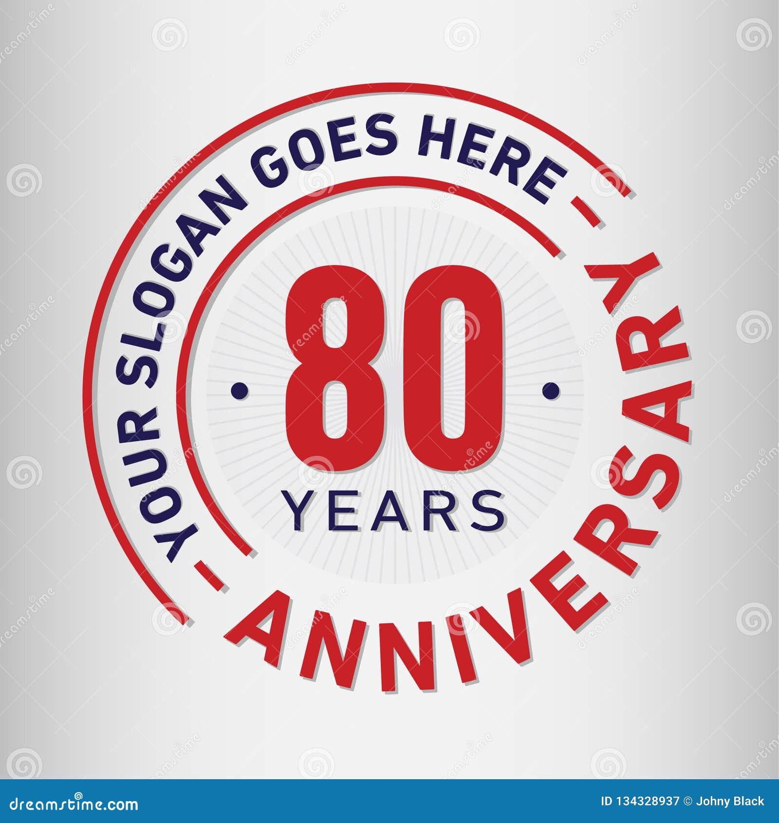 80 годовщины торжества лет шаблона дизайна Вектор и иллюстрация годовщины 80 лет логотипа