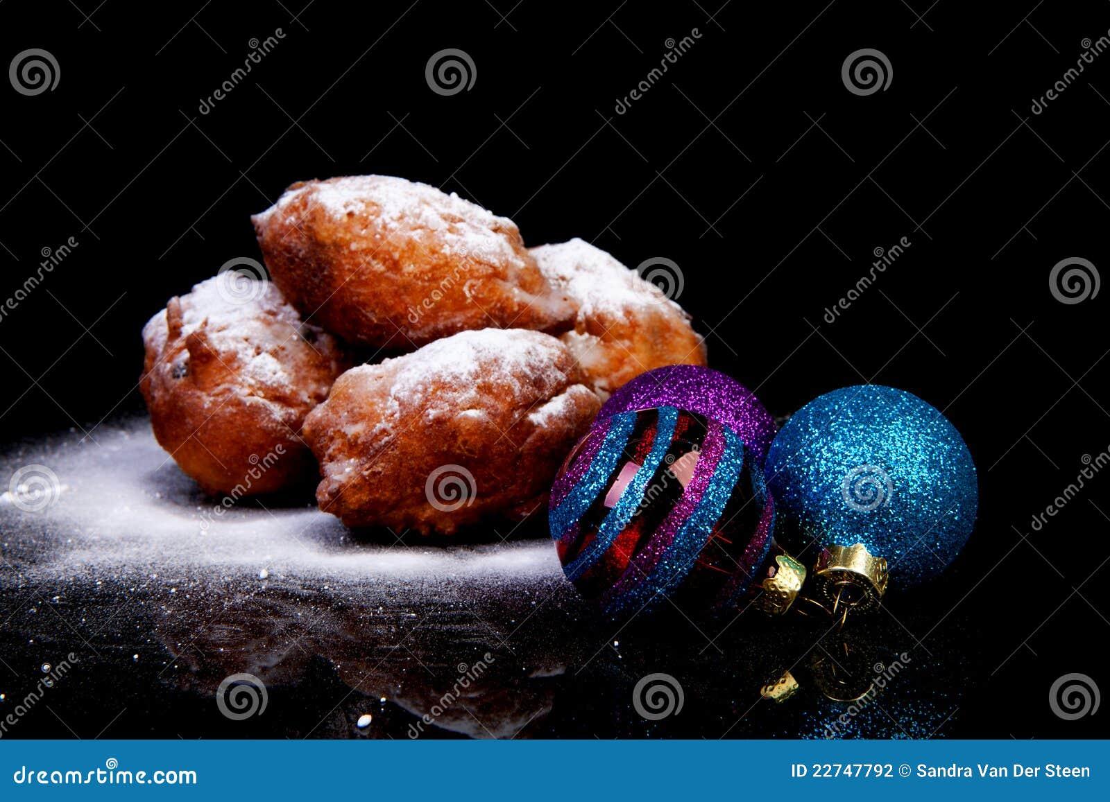 голландецы рождества шариков oliebollen куча