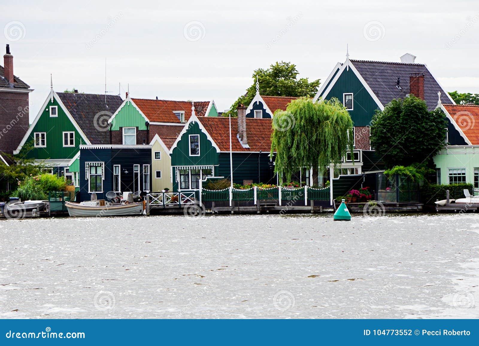Голландия, ветрянки Zaanse Schans