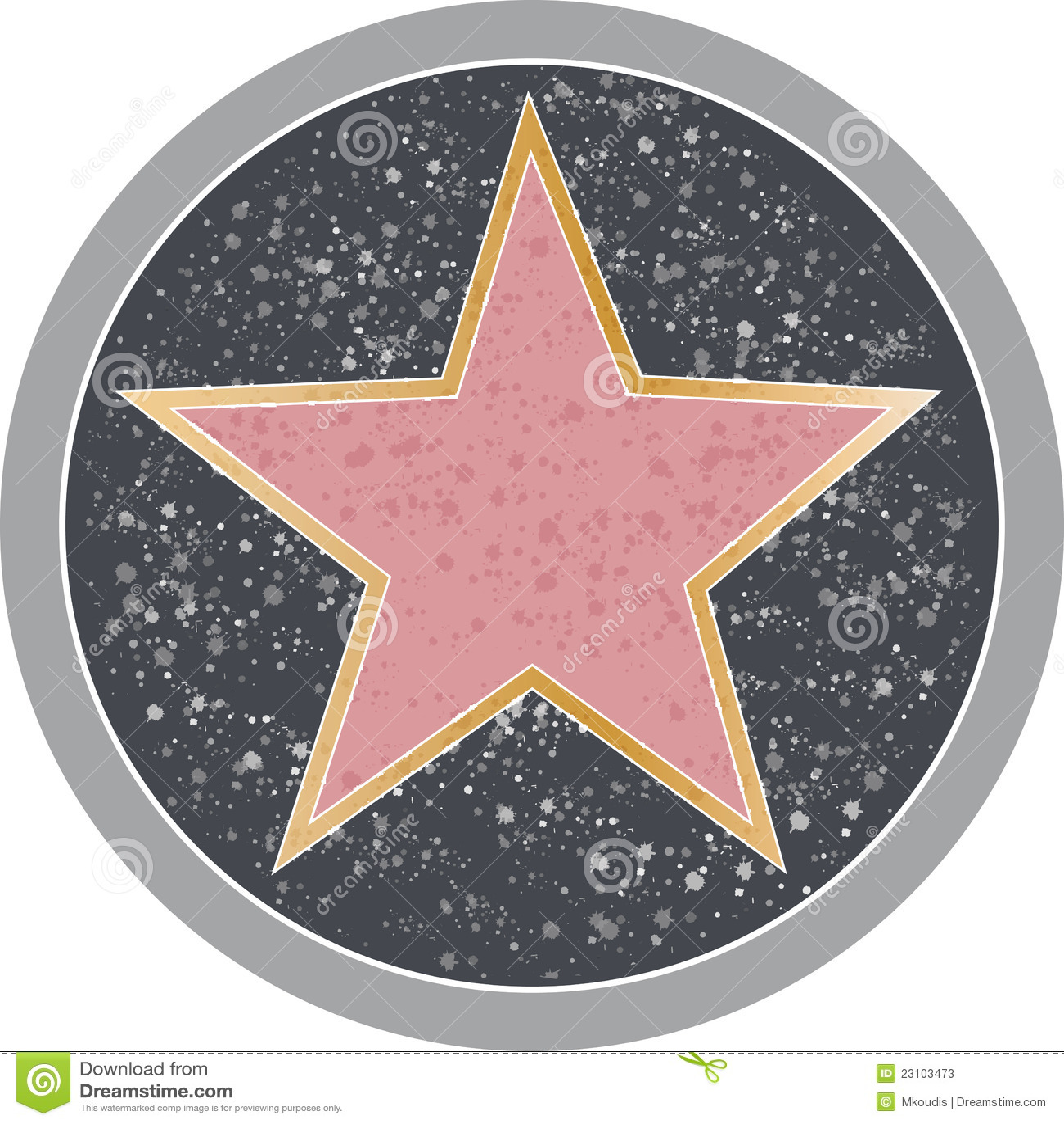 Напоминающе звезды тротуара голливуд