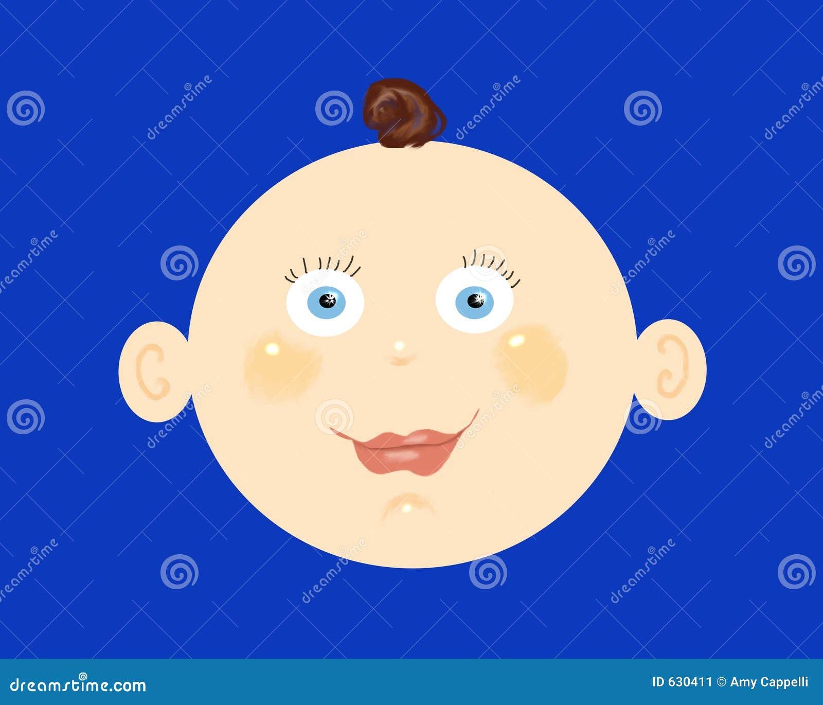 Download головка ребёнка иллюстрация штока. иллюстрации насчитывающей aztecan - 630411