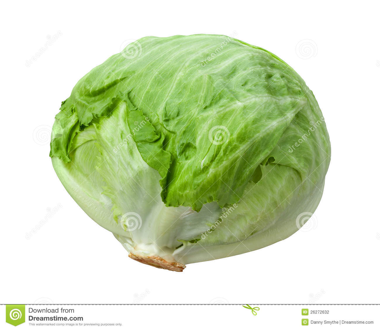 Головка салата изолированная на белизне