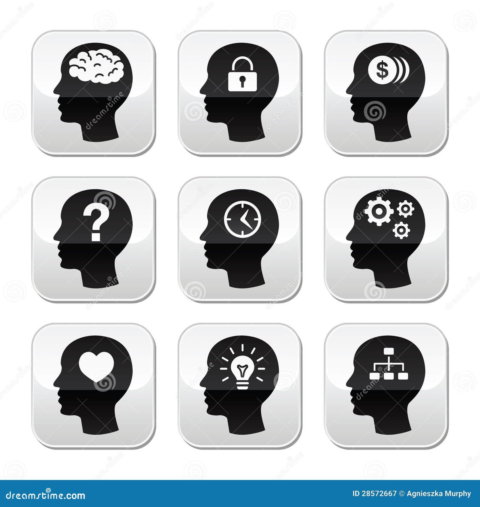 Головные установленные кнопки мозга