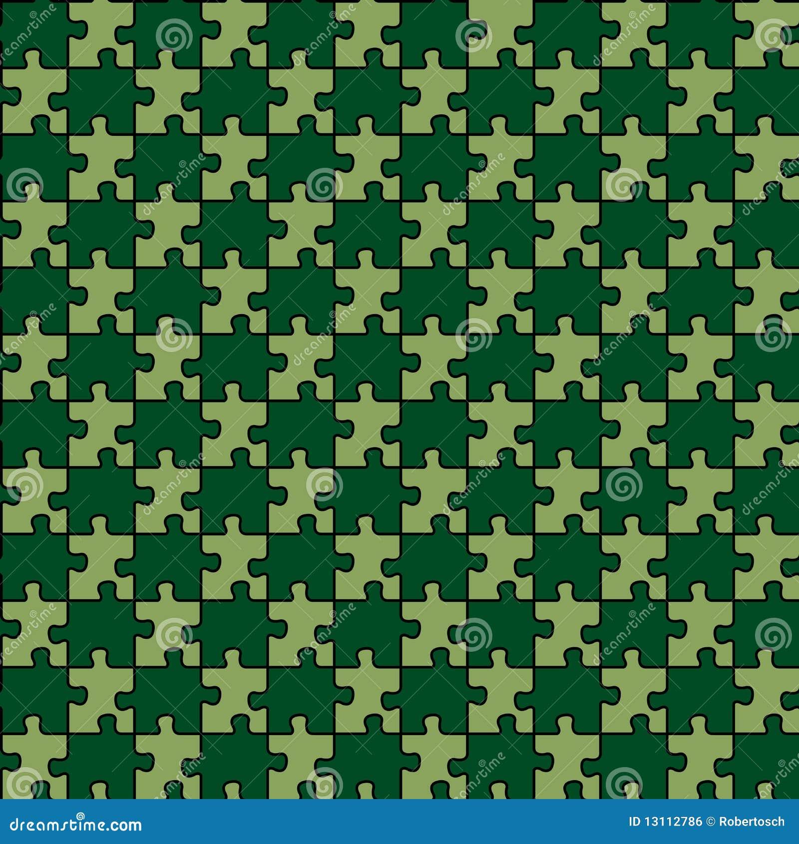 головоломка зеленого цвета пущи смешанная безшовная