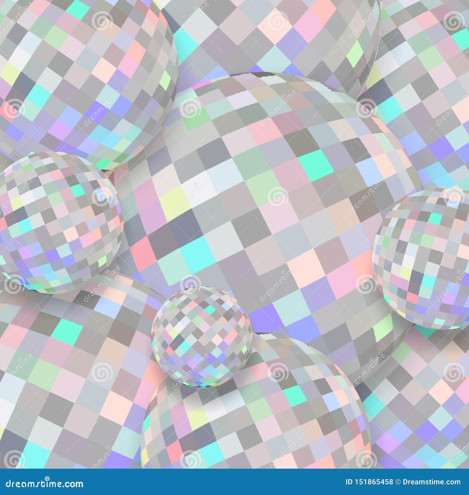 Голографические хрустальные шары 3d яркости Абстрактная текстура диаманта shimmer