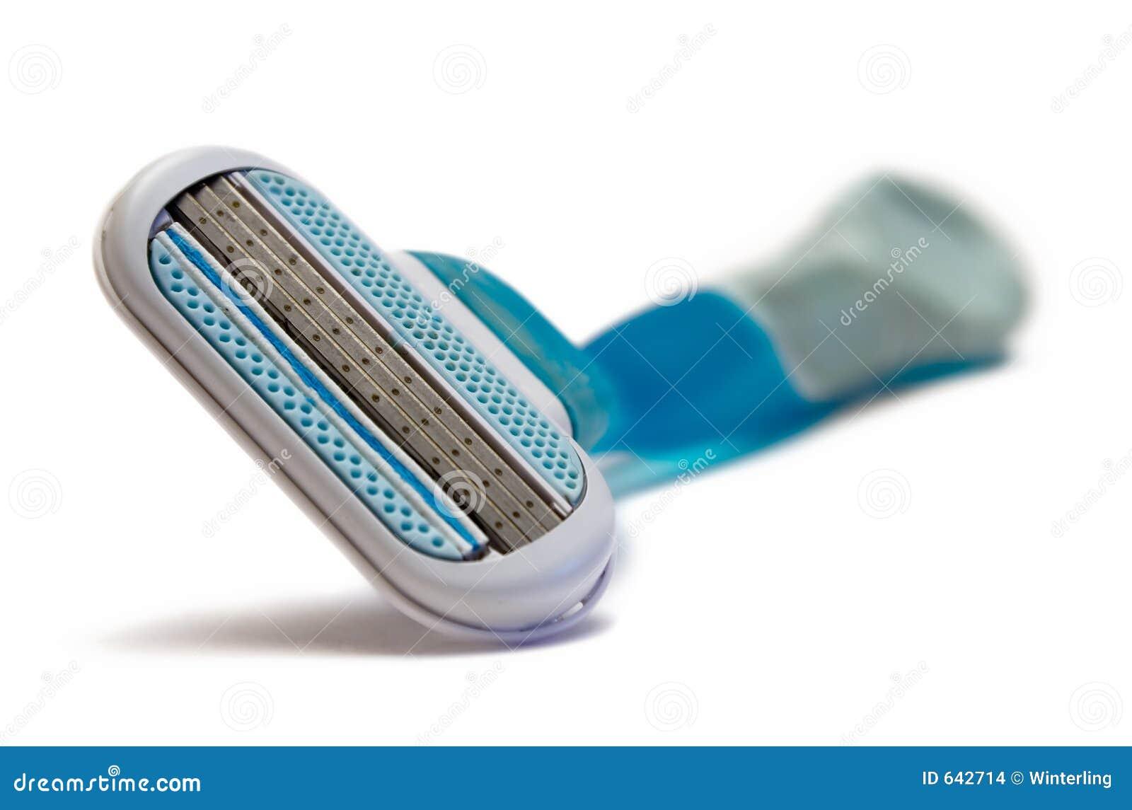 Download голубая бритва стоковое фото. изображение насчитывающей гигиена - 642714
