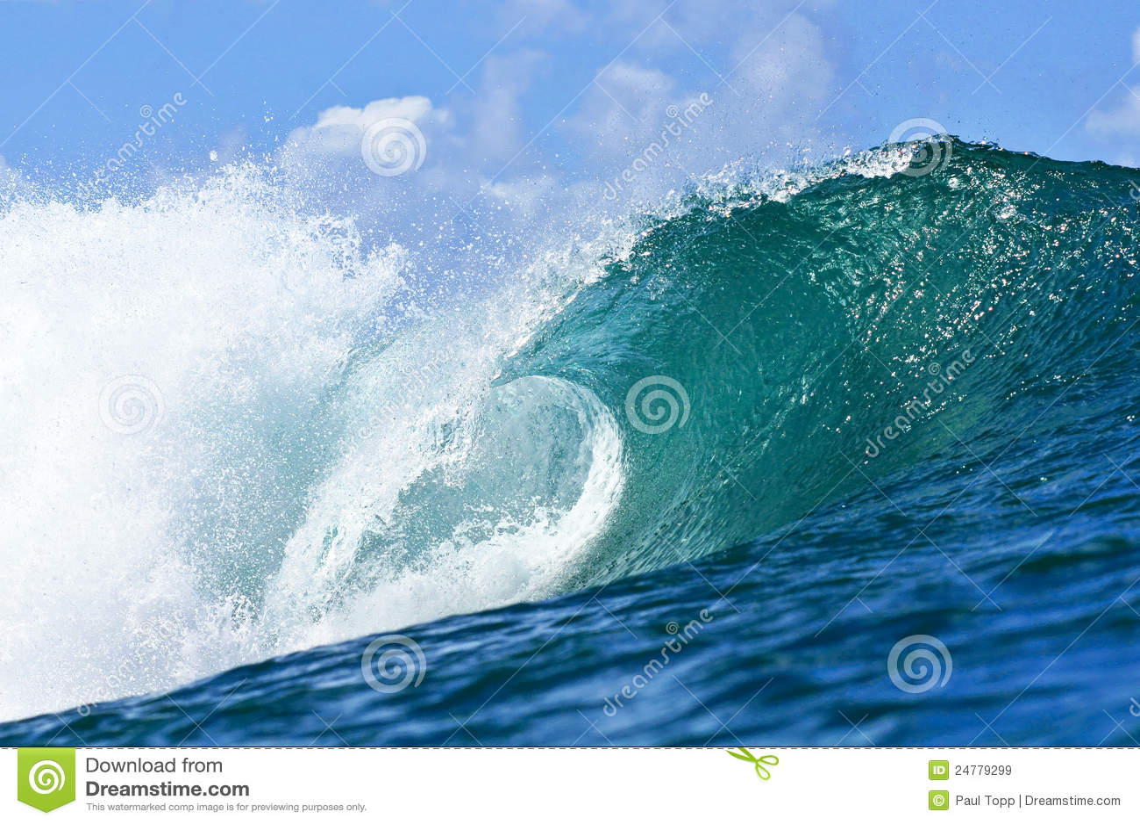 голубая волна трубопровода Гавайских островов honolulu