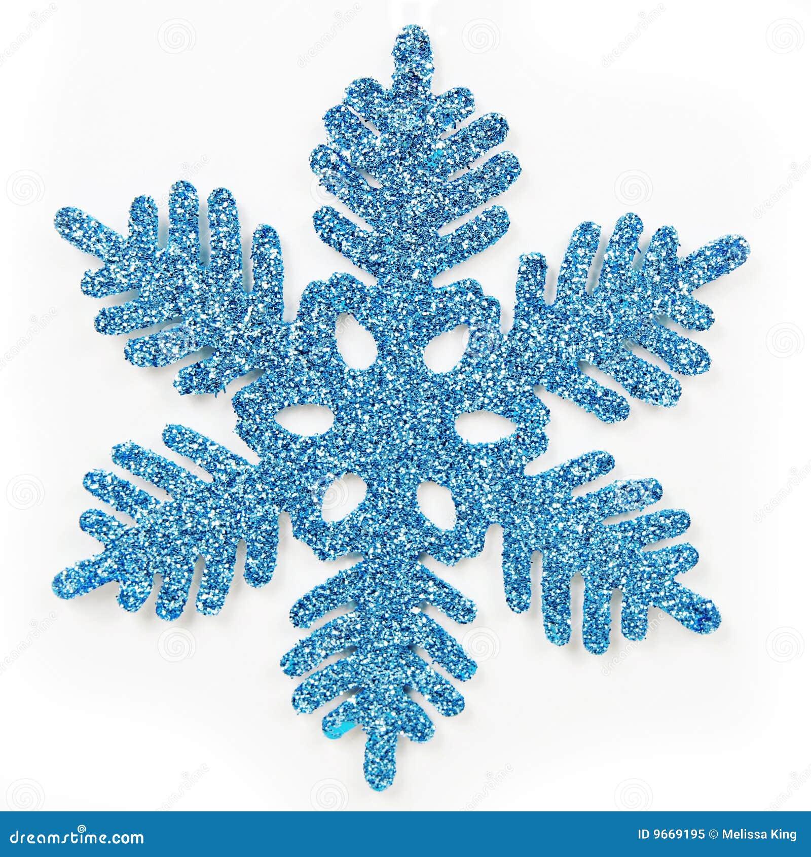голубая замороженная снежинка