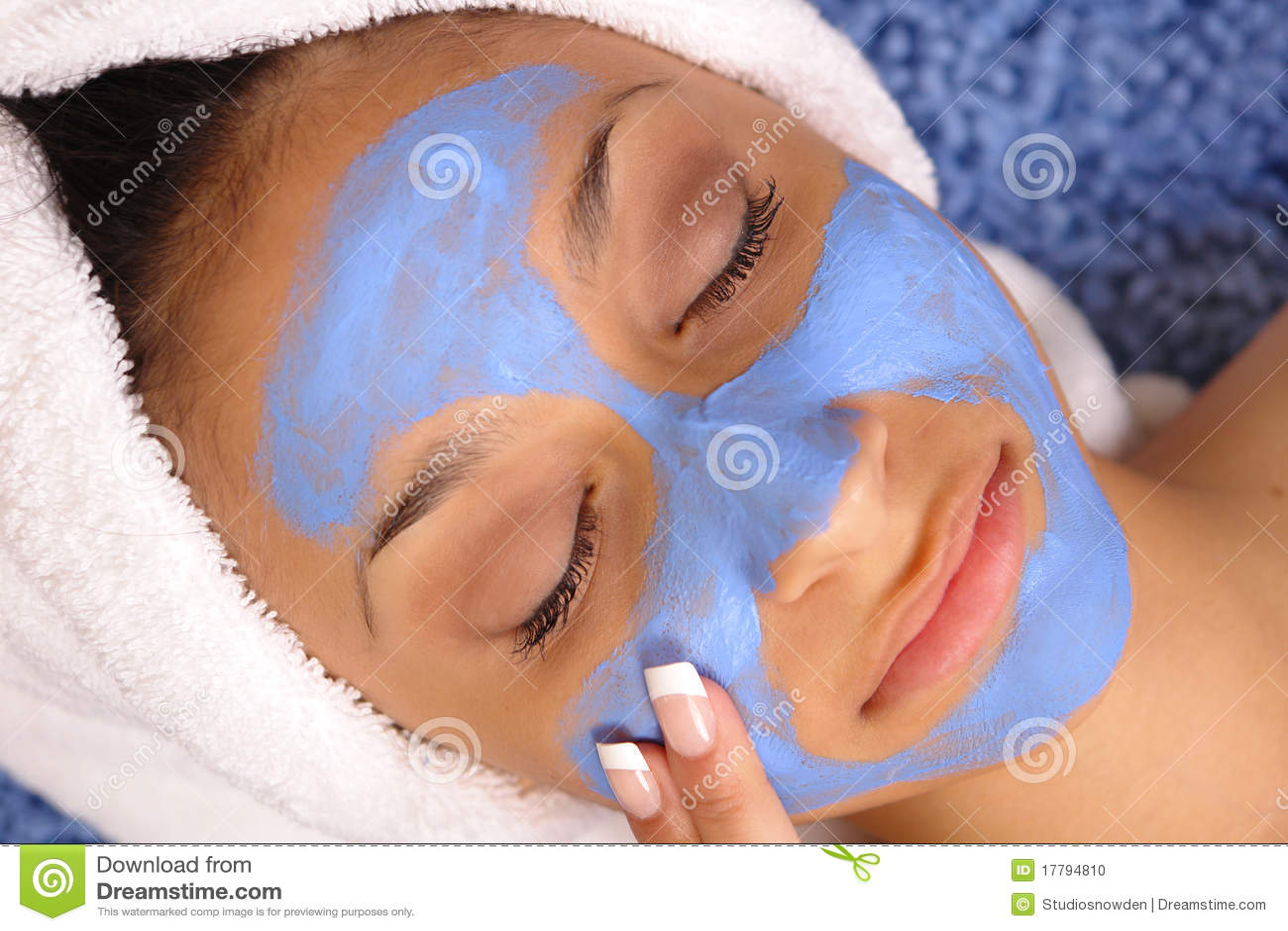 голубая лицевая спа