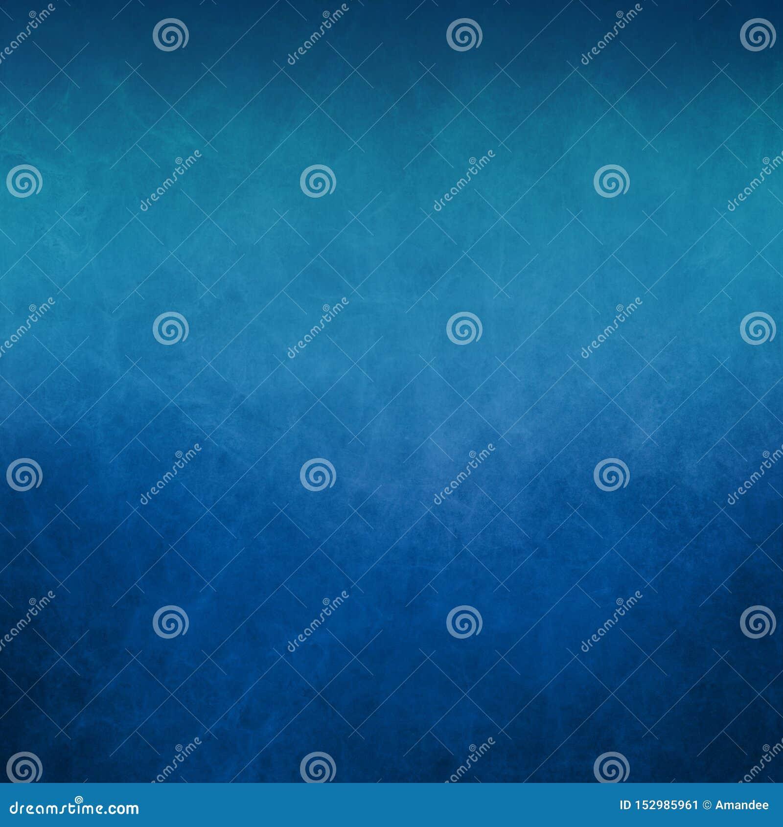 Голубая предпосылка с мягкой светлой верхней границей и старый огорченный винтажный grunge текстуры на нижней границе
