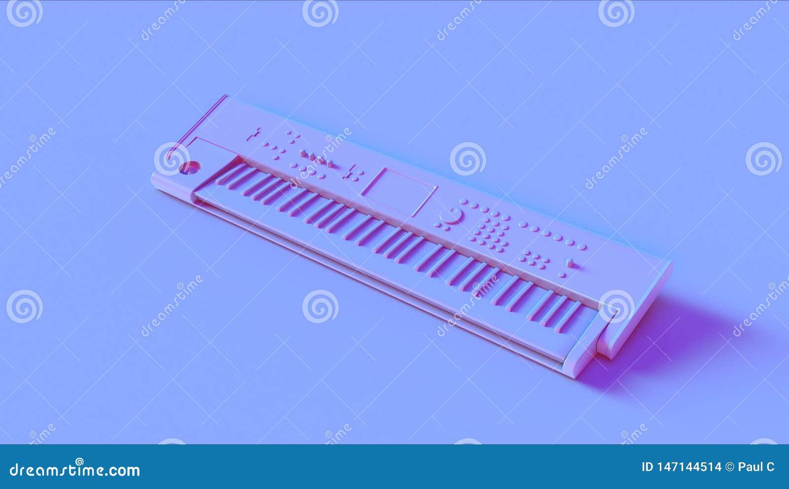 Голубая розовая клавиатура