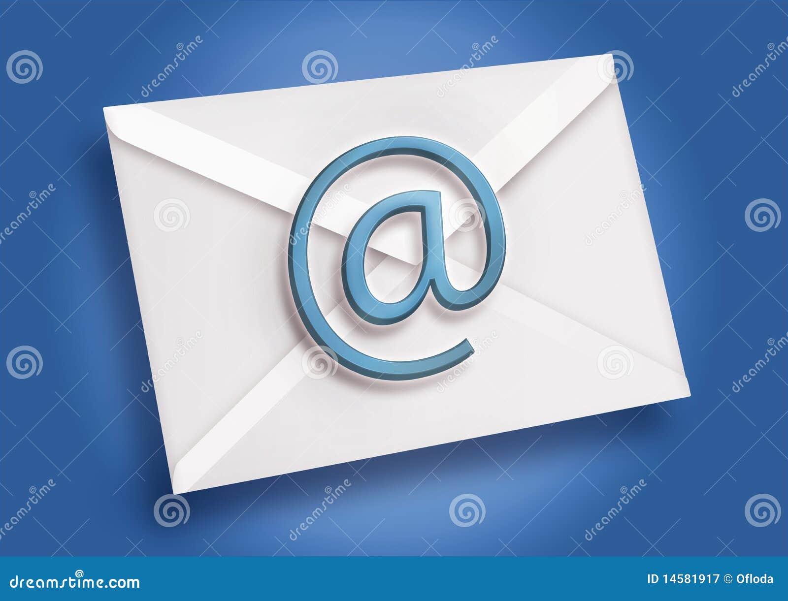 голубая электронная почта