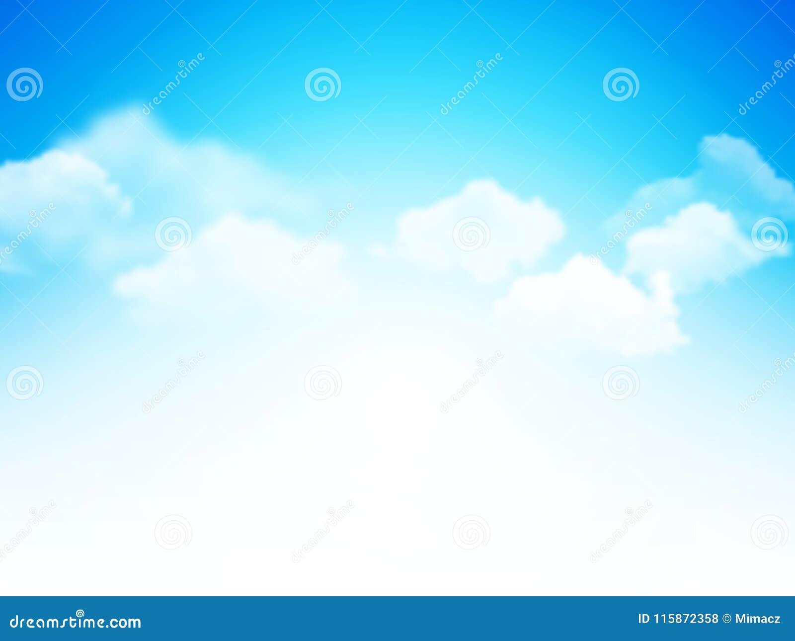 Голубое небо с предпосылкой вектора облаков абстрактной