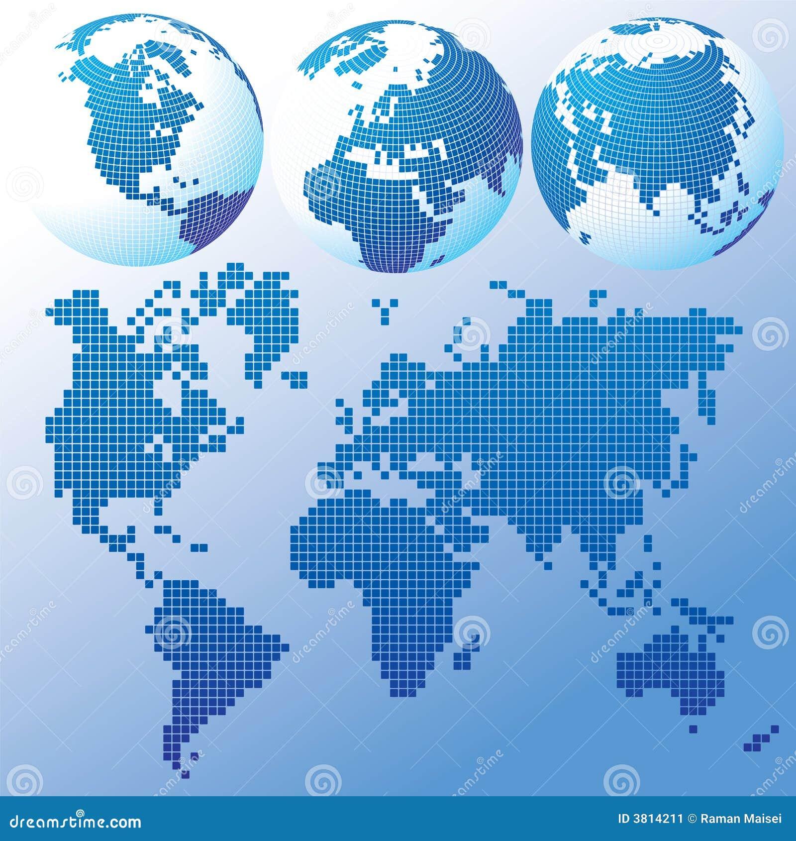 голубой гловальный комплект карты