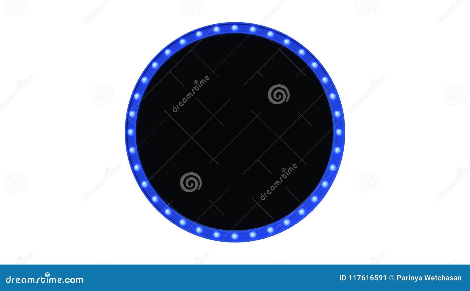 Голубой знак доски света шатёр ретро на белой предпосылке перевод 3d