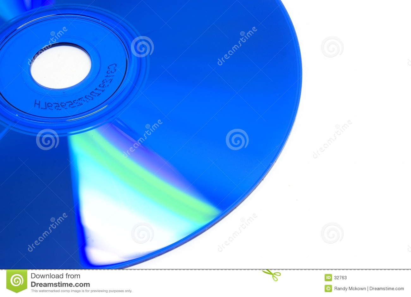 голубой компактный диск